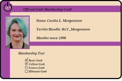 I am, an Official carrying Geek. Don't belive me? Here's my Official Geek Membership Card